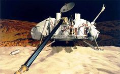 First lander on Mars during 1970's. The Viking landers carried four instruments designed to search for signs of Martian life: a gas chromatograph/mass spectrometer, as well as experiments for gas exchange, labeled release, and pyrolytic release.