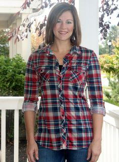 Red Plaid Top – Avery Lane Boutique
