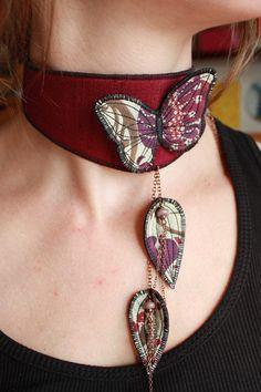 collier de créateur bijou textile