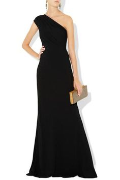 One shoulder, black, elegance simplified
