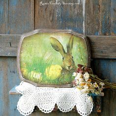 Easter Sign-Wooden Sign-Rustic Wall by RusticCraftsbySue on Etsy