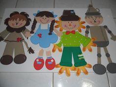 """Personagens """"O Mágico de Oz"""""""