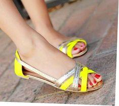 cb9ecb92a9f3 Ladies Fashion Shoes. womens shoes crocs to love. Yellow Flats