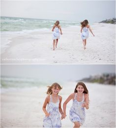 Sibling beach pictures, Florida, beach clothing ideas, children beach pictures, Watercolor pictures, Seaside pictures, family beach pictures // Catherine Clay Photography