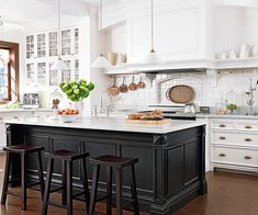 Bistro Flair...nice crown molding on lower lip of cabinets overhead....I have these stools pretty much....