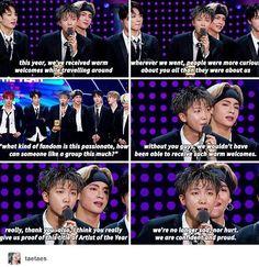 RM//Namjoon's speech MAMA 2017- BTS Artist Of The Year