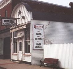 Drier's Meat Market , Three Oaks, Mich. has been recognized by as a National Historic Site since  opening in 1875 which means it has been in continuous use as a butcher shop since shortly after the Civil War.  We take pleasure in serving you only the finest in smoked meats, cured in our own 100 year-old smoke house! Liver Sausage, really more a country paté, bologna, salami, brats, hot dogs, Polish sausage, assorted cheeses, crackers and a variety of condiments are also available.