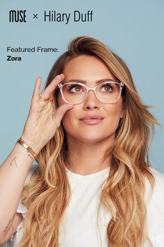 Every pair of glasses shows a different side of you… See the beauty within yourself. Be your own muse. Shop the new collection by Hilary Duff. Source by glassesusa Cute Glasses, New Glasses, Glasses Frames, Hilary Duff, Hillary Duff Hair, The Duff, Lunette Style, Look 2017, Fashion Eye Glasses