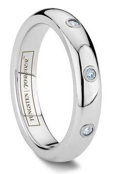 Bella Diamond Women's Tungsten Wedding Ring For more great custom Rings see: http://www.custom-rings.org #customRings #rings
