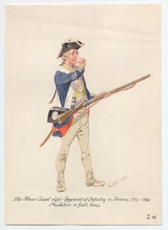 Hesse-Cassel Leib-Regiment of Infantry, Musketeer in Field Dress, in America 1776-1783 by H.Knotel
