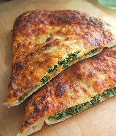 Spinach Ricotta Calzone - A calzone is thin-crust pizza folded before you bake it — rather than after!