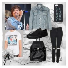 """""""Louis Tomlinson Inspired"""" by endlessvariety ❤ liked on Polyvore featuring Topshop, Sandro, Vans and Kate Spade"""