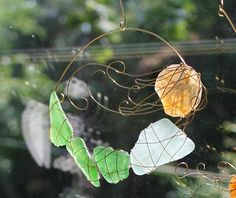 Large Beach Glass Mosaic Mermaid Sun Catcher 2 by WithLoveFromEmma