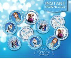 Frozen Confetti Frozen Circles Frozen Party by PixelPerfectShoppe, $2.00
