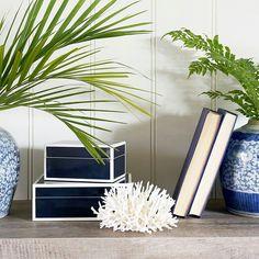 Hamptons House, The Hamptons, Ginger Jars, Home Furniture, Blue And White, House Design, Pretty, Shelf, Instagram