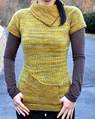 Love the asymmetry  in this piece and another gem for gently variegated yarn