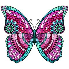 Line Art: Color by Number Butterfly Mandala, Mandala Doodle, Mandala Art Lesson, Butterfly Drawing, Mandala Drawing, Swan Painting, Dot Painting, Pencil Art Drawings, Art Drawings Sketches