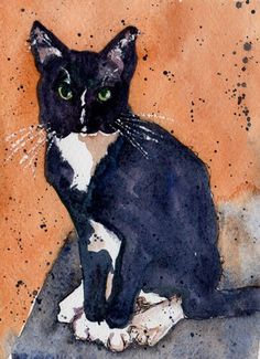 """catsof100days: """"Cats of 100 Days One of my favorite paintings of Patterson. """""""