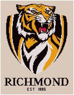 I'm selling Richmond Tigers logo cross stitch chart - A$3.30 #onselz