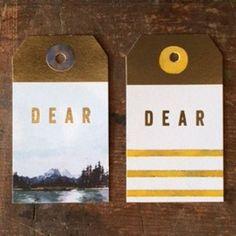 Foil wilderness gift tags | Ferme à Papier
