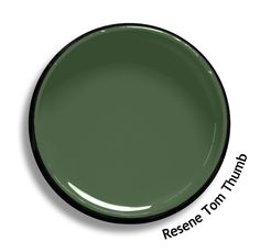 Resene Tom Thumb is a smoky grey green. Will work well with colours from the same tonal range. From the Resene Multifinish colour collection. Try a Resene testpot or view a physical sample at your Resene ColorShop or Reseller before making your final colour choice. www.resene.co.nz
