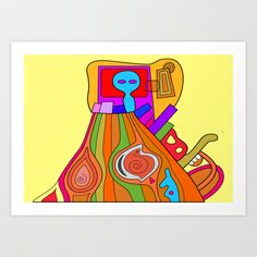 General of the fourth legion of galactic Joy (Country side version) Art Print by Joe Pansa - $16.00