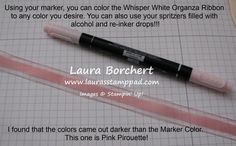 Dying Ribbon with your Markers