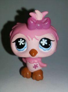 Littlest Pet Shop Pink Owl Blue Eyes Purple Bow #496 Preowned LPS in Toys & Hobbies, Preschool Toys & Pretend Play, Littlest Pet Shop | eBay