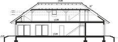 Przekrój ARP PADME 2 CE Floor Plans, Albums, Design, Houses, Home, Projects, Floor Plan Drawing, House Floor Plans