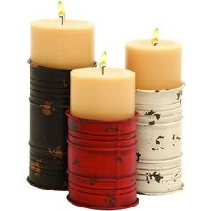 Best recycled can ideas candle holders