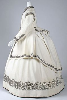 British cotton and wool dress ca. 1865