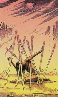 Ten of Wands - Cosmic Tarot by Norbert Losche
