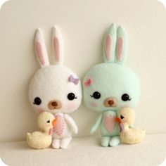 easter bunny and chick pattern...