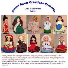 Crochet Pattern  4.5 inch Kelly  Dolls of by SweetSilverCreations, $11.95