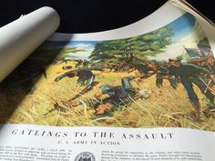 VINTAGE LOT OF ARMY WAR DEPARTMENT POSTERS FROM 1953. A SMALL HISTORY ACCOMPANIES EACH POSTER WITH INSTRUCTIONS FOR HANGING.