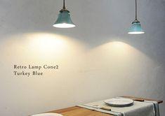 1つ1つ日本の職人さんが手作りした陶器のシェード。灯をともすとその温かみが伝わってきます。 #ペンダントライト #照明 #レトロランプ Retro Lamp, Home Furniture, Ceiling Lights, Lighting, Bakery, Bread, Color, Home Decor, Lights