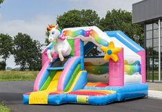 Big Water Slides, Water Park Rides, Inflatable Bouncers, Outdoor Fun, Outdoor Decor, Unicorn Birthday Parties, Things That Bounce, Art For Kids, Tent