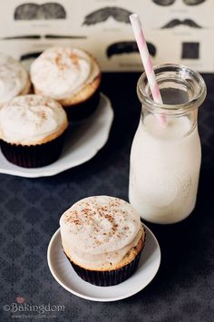 Cinnamon Roll Cupcakes with cream cheese frosting. I *have* to try this recipe after my current diet ends!