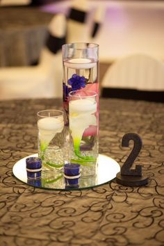 DIY Cylinder Vase Centerpieces Inspiration :  wedding diy centerpieces diy cylinder submerged centerpieces Reception38