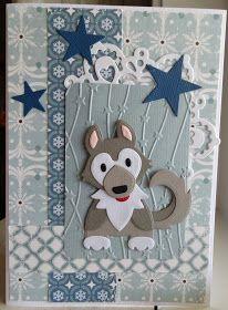 Scrapcard girls: 52 Weeks to Christmas week 29 Husky, Craftwork Cards, 52 Weeks, Santa And Reindeer, Marianne Design, Animal Cards, Card Tags, Making Ideas, Paper Flowers