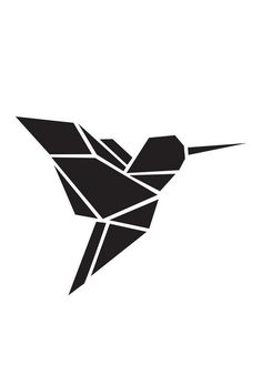 Origami Kolibri als Acrylglasbild von Eulenschnitt   JUNIQE