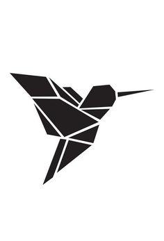 Origami Kolibri als Acrylglasbild von Eulenschnitt | JUNIQE