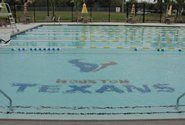 The outdoor pool at the Houston Texans YMCA