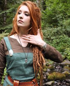 The fiery red headed beauty @tyrawen wearing Wicked Griffin jewelry as well as @midgaarb clothing and @lykosleather  - thewickedgriffin.com