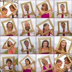 Such a fun way to capture the wedding party's personalities!
