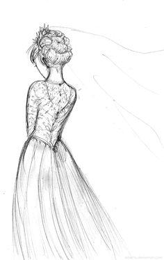 Suddenly I decided Elsa should have a wedding dress…