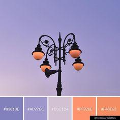Purple & Orange | Streetlight |Color Palette Inspiration. | Digital Art Palette And Brand Color Palette.