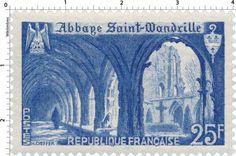 France Stamp - Abbaye Saint-Wandrille (1949)