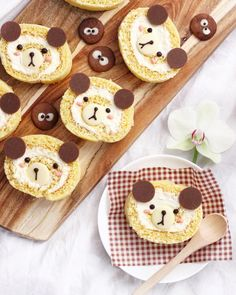 Kuma-chan banana roll cakes  by Michelle Lu  (@sweet_essence_)