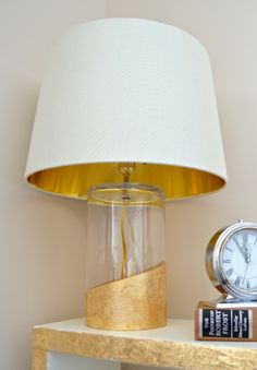 DIY Gold Dipped Lamp... turn a vase into a chic statement piece!